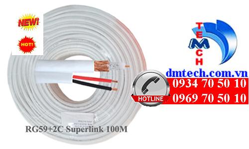 Cáp đồng trục Super Link RG59 2C không dầu-100M