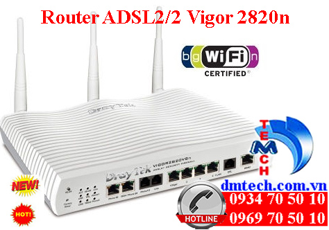 Router ADSL2/2 Vigor 2820n