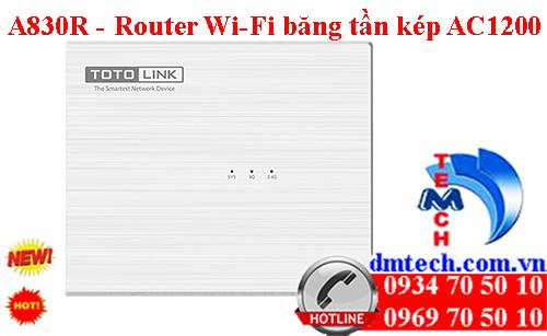A830R - Router Wi-Fi băng tần kép AC1200