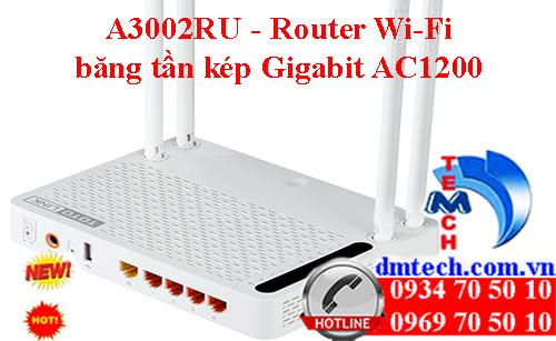 A3002RU - Router Wi-Fi băng tần kép Gigabit AC1200