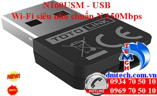 N160USM - USB Wi-Fi siêu nhỏ chuẩn N 150Mbps