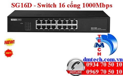 SG16D - Switch 16 cổng tốc độ Gigabit