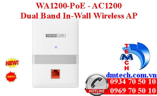 WA1200-PoE - AC1200 Dual Band In-Wall Wireless AP