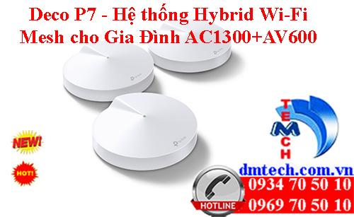 Deco P7 - Hệ thống Hybrid Wi-Fi Mesh cho Gia Đình AC1300