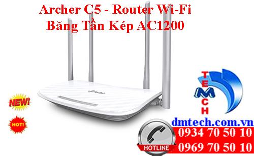 Archer C5 - Router Gigabit băng tần kép không dây AC1200