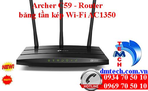 Archer C59 - Router băng tần kép Wi-Fi AC1350
