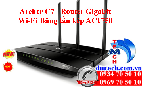Archer C7 - Router Gigabit Wi-Fi Băng tần kép AC1750