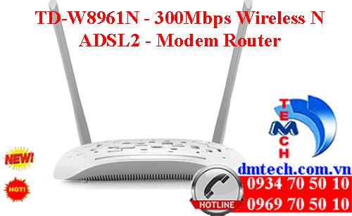 TD-W8961N - 300Mbps Wireless N ADSL2 - Modem Router