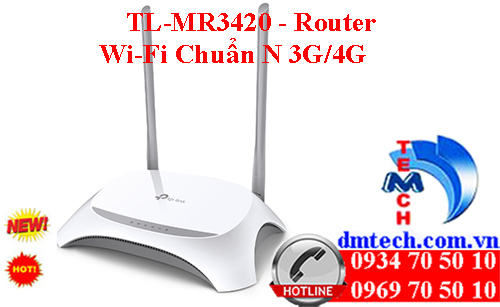 TL-MR3420 - Router Wi-Fi Chuẩn N 3G/4G