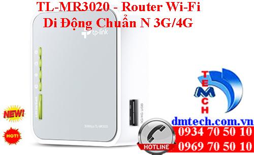 TL-MR3020 - Router Wi-Fi Di Động Chuẩn N 3G/4G