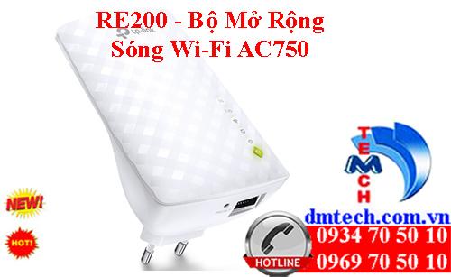 RE200 - Bộ Mở Rộng Sóng Wi-Fi AC750