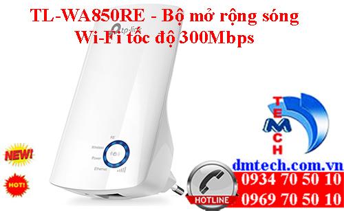 TL-WA850RE - Bộ mở rộng sóng Wi-Fi tốc độ 300Mbps
