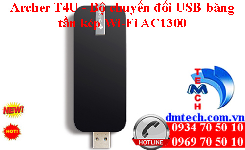 Archer T4U - Bộ chuyển đổi USB băng tần kép Wi-Fi AC1300