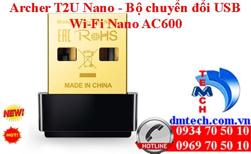 Archer T2U Nano - Bộ chuyển đổi USB Wi-Fi Nano AC600