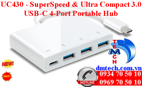 UC430 - SuperSpeed & Ultra Compact 3.0 USB-C 4-Port Portable Hub
