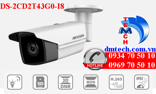 Camera IP Hikvision DS-2CD2T43G0-I8