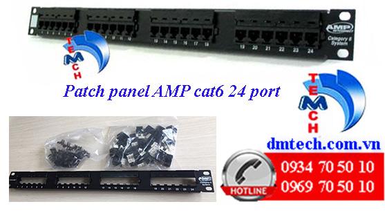 Patch panel AMP Cat6 24 port-1375014-2
