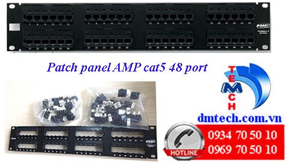Patch panel AMP Cat5 48 port-1479155-2
