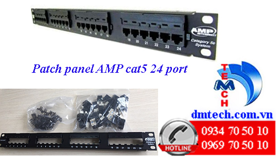 Patch panel AMP Cat5 24 port-1479154-2